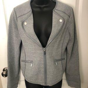Stylish WHBM Gray Blazer/Jacket